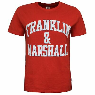Franklin And Marshall Logo Top Short Sleeve Red Boys T-Shirt FMS0097 933 • 6.99£