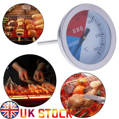Temperature Thermometer Gauge | Barbecue BBQ Grill Smoker Pit Thermostat UK • 4.99£