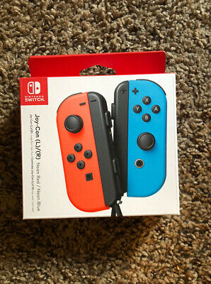 $62 • Buy NEW Nintendo Switch Joy-Con Controller - Neon Red/Neon Blue FAST SHIPPING