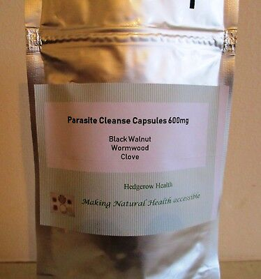 Parasite Cleanse Formula 30 60 X 600mg Caps POUCH Black Walnut Wormwood Cloves/ • 9.99£