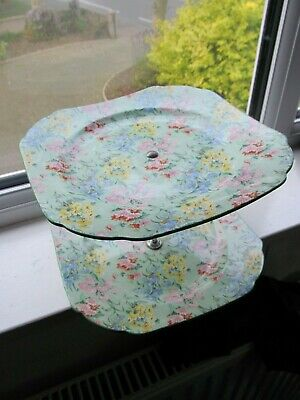 Shelley Melody  2 Tier Cake Stand. • 45£