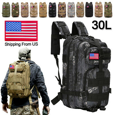 $24.99 • Buy 30L Military Molle Tactical Backpack Rucksack Camping Hiking Bag Outdoor Travel