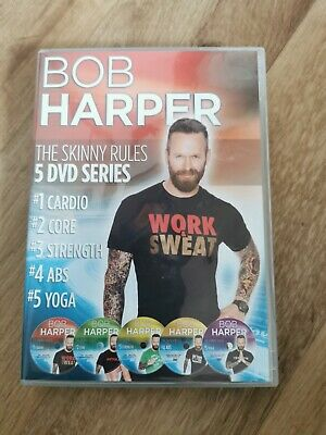 Bob Harper The Skinny Rules - 5 Disc Set DVD Series UK Version • 16£