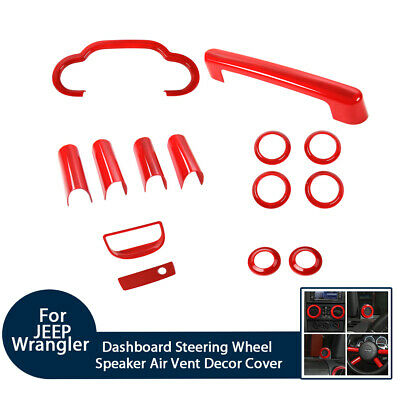 $56.99 • Buy 14x Interior Decoration Cover For 2007-2010 Jeep Wrangler JK JKU Accessories Red