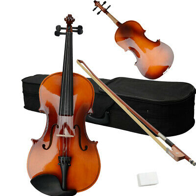 $38.18 • Buy 15  Inch Acoustic Brown Wood Viola W/ Case + Rosin + Bow For Adults