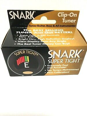 $ CDN37.79 • Buy SNARK Super Tight Clip-On Tuner Black For Acoustic, Bass & Electric Guitar