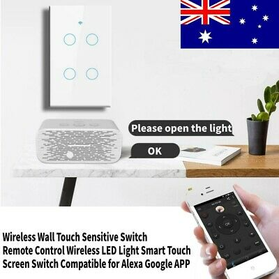 AU35.59 • Buy WIFI Smart Wall Light Dimmer Light Switch Wall Touch Panel For Alexa Google Home
