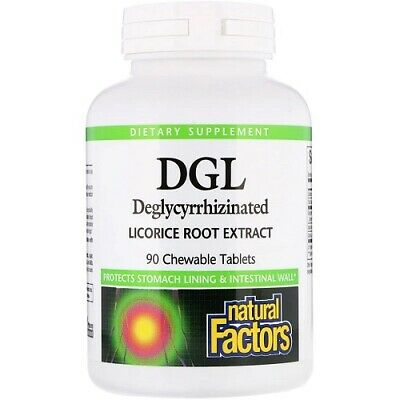 Natural Factors DGL Deglycyrrhizinated Licorice Root Extract 90 Chewable Tabs • 16.99£