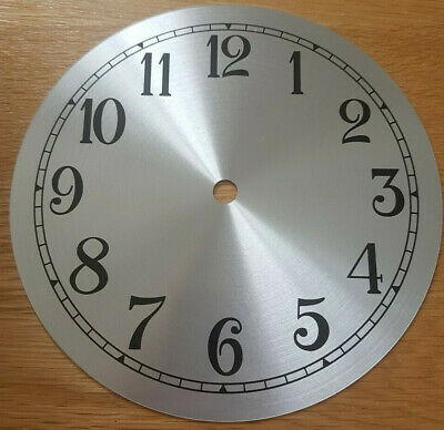 £11.95 • Buy NEW - 7 Inch Clock Dial Face - Silver Finish - 177mm Arabic Numerals - DL191