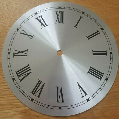 £11.95 • Buy NEW - 8 Inch Clock Dial Face - Silver Finish - 203mm Roman Numerals - DL21