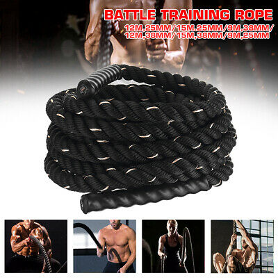 AU56.90 • Buy 9M 12M 38mm Home Gym Battle Rope Battling Strength Training Exercise Fitness