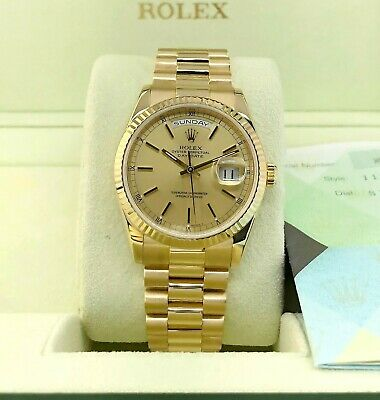 $ CDN28870.56 • Buy Rolex Day Date President 36mm Watch 118238 Box And Papers Double Quick Set
