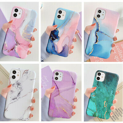 AU10.99 • Buy Watercolor Marble Soft Rubber Case Cover For IPhone 11 Pro Max XS Max XR 8 7 SE2