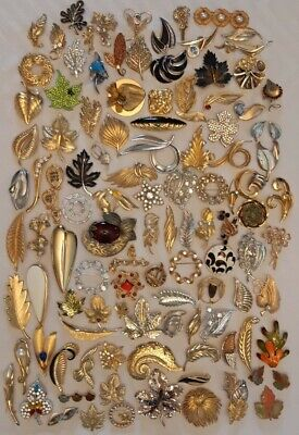 $ CDN199.99 • Buy Lot Of 112 Vintage Jewelry All Leaf Leaves Brooches In Great Condition Maple +++