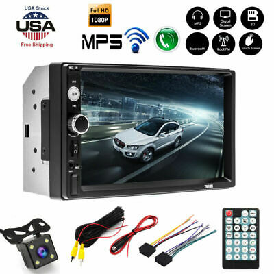 $ CDN69.19 • Buy 7'' 2DIN HD Car Stereo Radio MP5 Player Bluetooth Touch Screen With Rear Camera