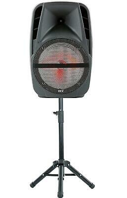 $ CDN193.52 • Buy QFX PBX-61161 15  Portable Party Speaker With Wireless Microphone & Stand
