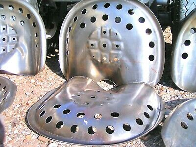 TWO STEEL Tractor Seats Metal Farm Or Bar Stool Tops Pan Style Large • 66.09£