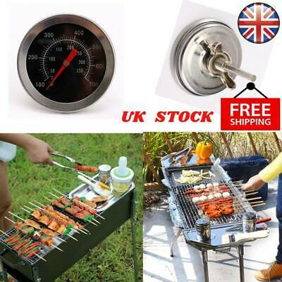Stainless Steel BBQ Accessories Grill Meat Thermometer Dial Temperature Gauge UK • 3.69£