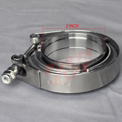 AU29.99 • Buy 2  Inch V-Band Clamp & Flange Kit Stainless Steel Exhaust Muffler Clamp