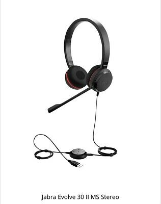 Jabra Evolve 30 MS STEREO Headset Or MONO Headset For Teams/Skype - USB Jack 3.5 • 45£