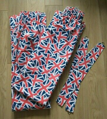 Lined Union Jack Curtains With Tie Backs  • 35£