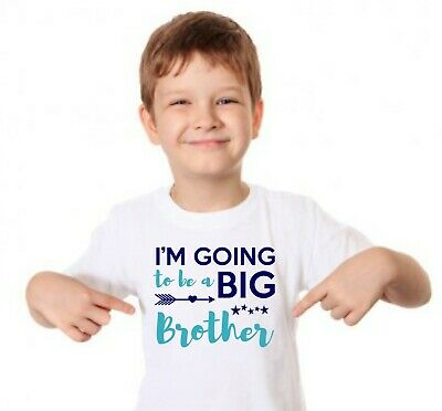 I'm Going To Be A Big Brother Kids Tshirt. Childrens Announcement Top Sibling • 6.99£