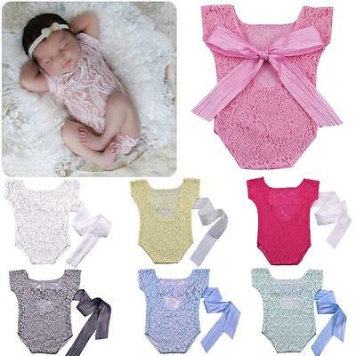 £3.34 • Buy Retro Photography Props Baby Safety Popular Leak Lovely Ribbon Lace Baby Clothes