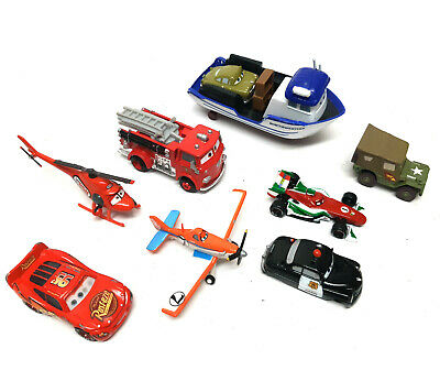 Disney Pixar Movies CARS , PLANES, HELICOPTER, BOAT, FIRE TRUCk Toy Vehicle Set • 29.99£