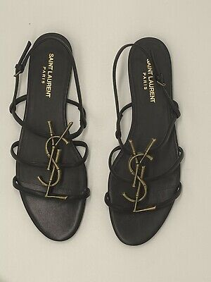 AU519 • Buy Saint Laurent YSL Cassandra Womens Sandals, Size 39, Like New With Box, Lovely!