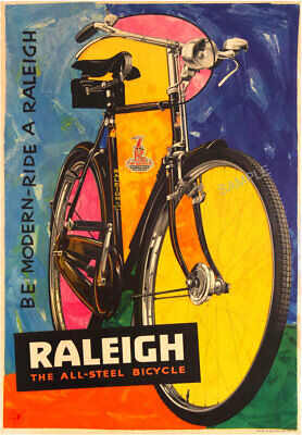 VINTAGE POSTER Raleigh Bicycle Old Advert Retro Cycling Bike ART PRINT A3 A4  • 3.99£