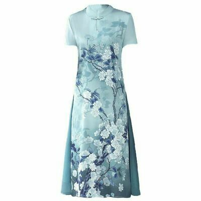 £16.18 • Buy Chinese Style Women's Floral Printed Cheongsam A-Line Short Sleeve Dress Qipao D