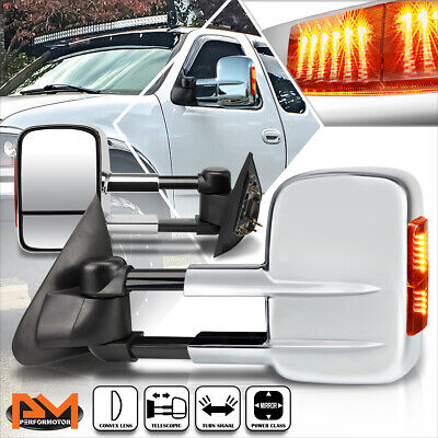 $145.89 • Buy For 97-04 Ford F150/97-99 F250 Power Adjust Towing Mirror W/LED Signal Lamp Pair