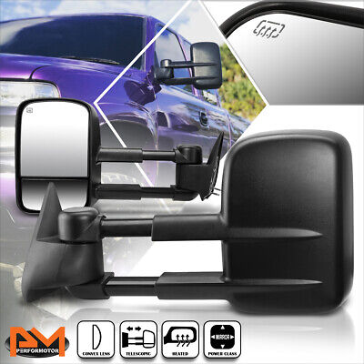 $92.89 • Buy For 99-02 Chevy Silverado/GMC Sierra Power+Heated Side View Towing Mirror Pair