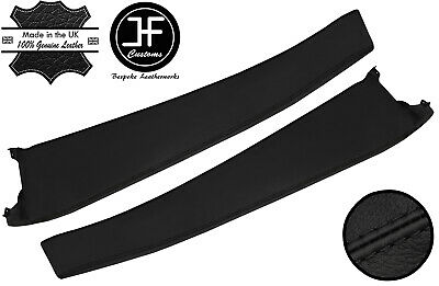 $ CDN290.81 • Buy Black Stitch 2x Door Sill Trim Top Grain Leather Cover For Lotus Elise S2 01-06