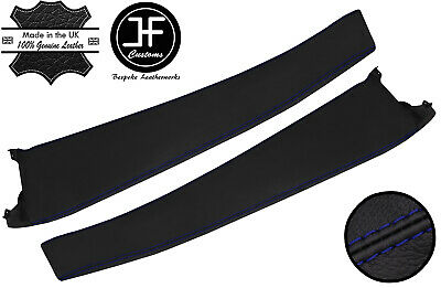 $ CDN290.81 • Buy Blue Stitch 2x Door Sill Trim Top Grain Leather Cover For Lotus Elise S2 01-06