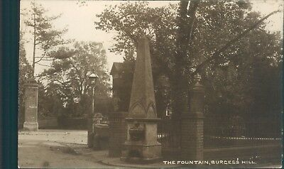 Real Photo Burgess Hill The Fountain H J Combridge Local Publsher • 14.98£