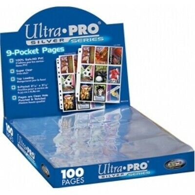 Ultra Pro Silver 9 Pocket Pages - Trading Card Sleeves - 81442-E - 10 Pages • 3.49£