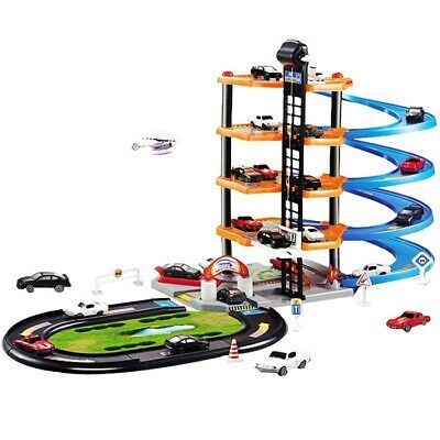 4-Layer Assembly Track Car Garage Parking Lot Model Toy Set Kids Children Gift • 29.97£