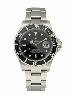 $ CDN11758.10 • Buy Rolex Submariner 16610 Engraved Rehaut Men's Watch
