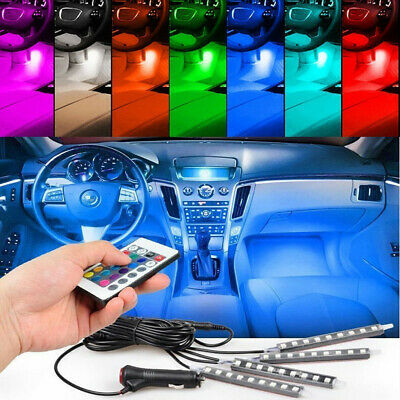 $20.99 • Buy Parts Accessories Glow LED Interior Car Kit Under Dash Floor Seats Accent Light
