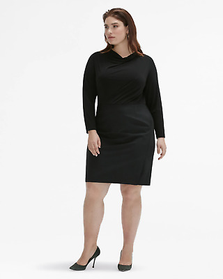 $ CDN147.67 • Buy NWT MM. Lafleur Akiko 4.0 In Black Mixed Media Wool Stretch Sheath Dress +2 $295