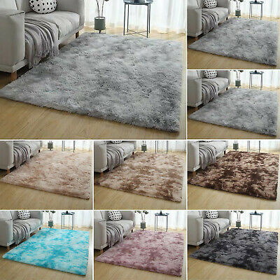 AU40.27 • Buy Rectangle Shaggy Carpet Bedroom Living Room Floor Pads Mat Soft Fluffy Area Rugs