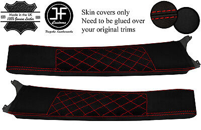 $ CDN325.52 • Buy Red Diamond Stitch Door Sill Lthr+luxe Suede Covers For Lotus Elise S2 01-06