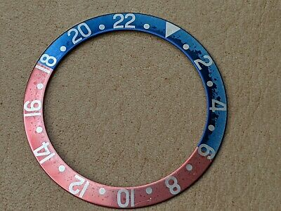 $ CDN2260.11 • Buy Vintage Rolex GMT 1675 Fat Font Uniquely Faded Yale Blue/Pinkish Bezel Insert