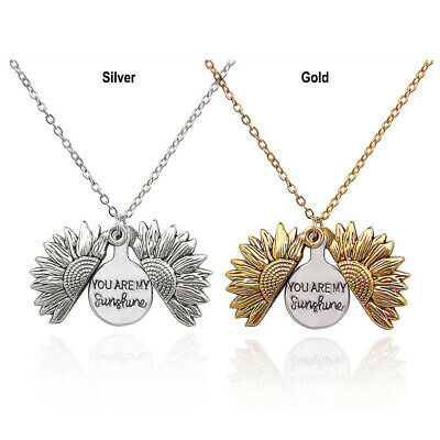 AU7.85 • Buy  You Are My Sunshine  Open Sunflower Pendant Necklace For Women Jewelry-Gifts