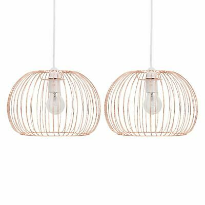 Set Of 2 Copper Easy Fit Ceiling Light Shade Pendants Modern Lightshade • 19.99£