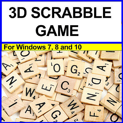 3D Scrabble Game For Windows 7 , 8 , And 10 With Bonus Games • 3£