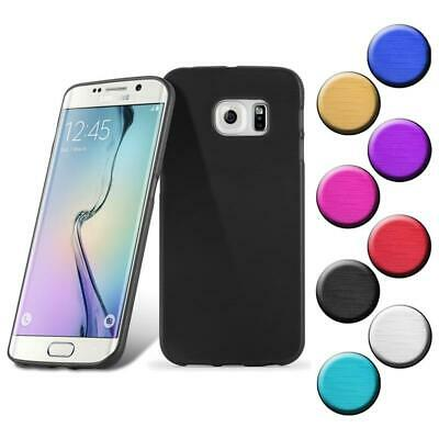 $ CDN8.88 • Buy Silicone Case For Samsung Galaxy S6 EDGE PLUS Shock Proof Cover Metallic Brushed