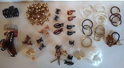 $ CDN31.63 • Buy Hair Accessories Lot Of 47 Scunci No-Slip Grip & Others Clips Scrunchi Ties