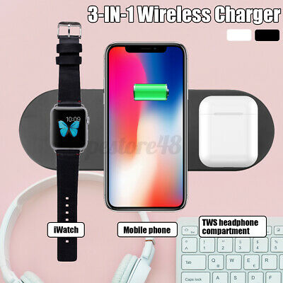 AU22.43 • Buy 3 In1 Charging Dock Qi Wireless Charger For IPhone 11 For Airpods For Samsung U